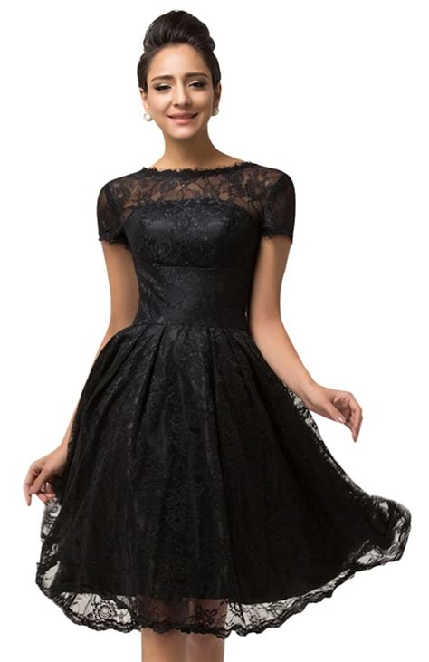 vivien black lace cocktail dress vintage clothing