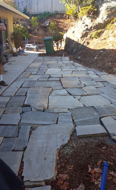 weekend project diy flagstone patio the distilled