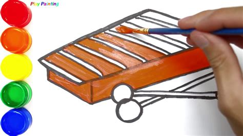 draw xylophone diy simple xylophone coloring pages youtube