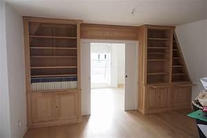 Ensemble Et Toit : biblioth ques et meuble bas sur mesure sous un toit mansard ~ Dode.kayakingforconservation.com Idées de Décoration
