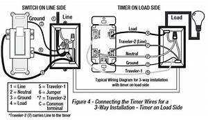 Four Wire Switch Wiring Diagram For A Timer