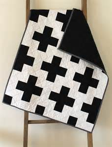 Black and White Cross Quilt Pattern