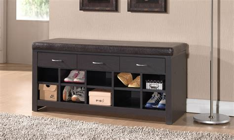 Entry Bench With Shoe Storage : Modern Entryway Room with