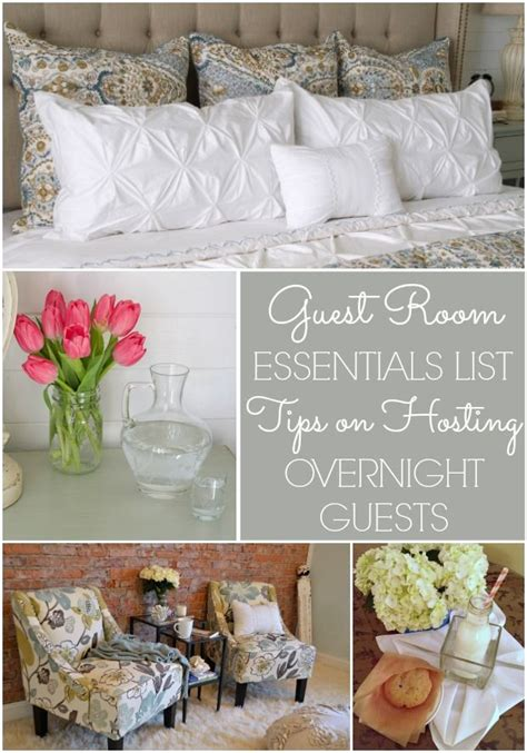 guest room essentials list tips  hosting overnight