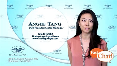 Fast Chat With Angie Tang Youtube