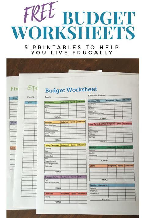 budget worksheets printables    save money