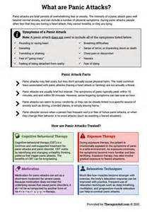Anxiety Panic Attack Worksheets