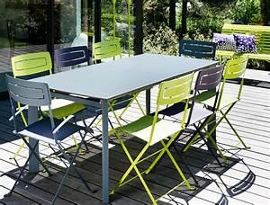table de jardin slim fermob en aluminium et en couleurs With fermob table de jardin