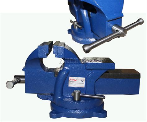 foxhunter swivel base bench vice vise jaw clamp