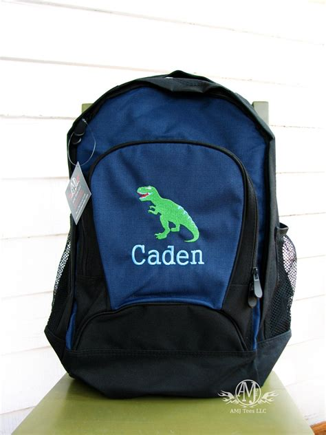 personalized dinosaur backpack boys backpack personalized