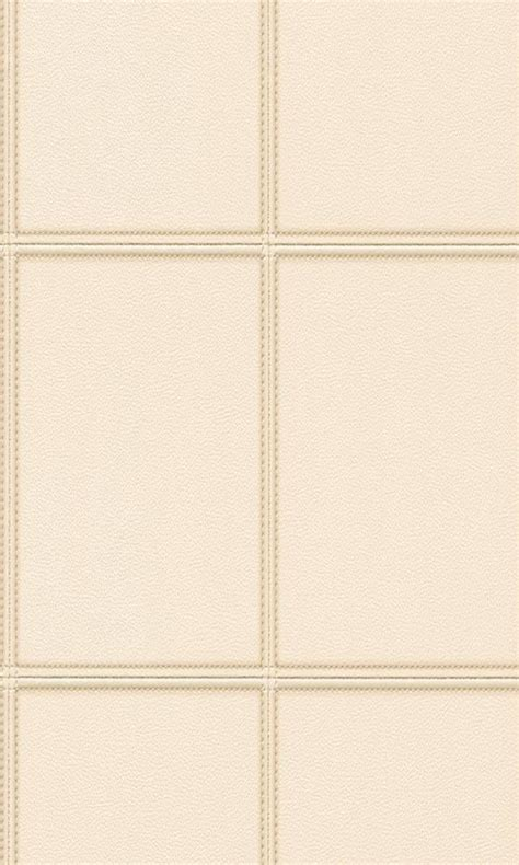 contemporary faux leather cream stitched panel wallpaper