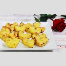 Würzige Kartoffelherzen Als Leckere Beilage Zum
