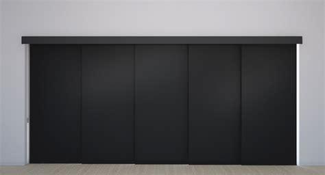 panel track vinyl blackout blinds