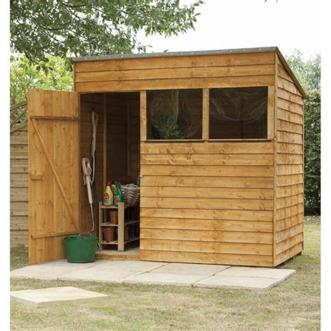 7x5 shed forest garden 7x5 premium overlap pent shed
