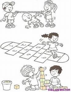 niños jugando ronda Colouring Pages