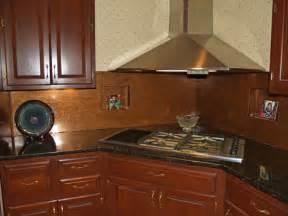 copper kitchen backsplash distressed copper backsplash copper sheets