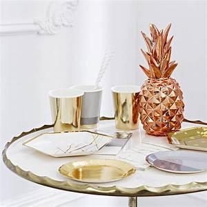 Deco Cuivre Rose : d coration de table ananas dor cuivr ma petite f te ~ Zukunftsfamilie.com Idées de Décoration