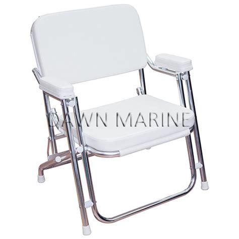 folding deck chair with cushion marine