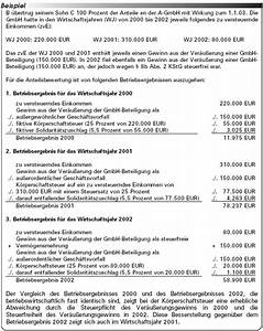 Zu Versteuerndes Einkommen Berechnen Tabelle : erbstr 2003 die bewertung von gmbh anteilen ~ Themetempest.com Abrechnung