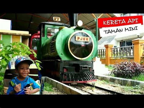 kereta api taman mini indonesia indah liburan seru youtube