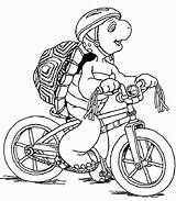 Coloring Pages Bicycle Turtle Franklin Bike Sketch Mountain Cartoon Cycling Printable Popular Rainbow Ninja Uploaded User sketch template