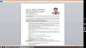resume template with photo insert how to insert picture in resume