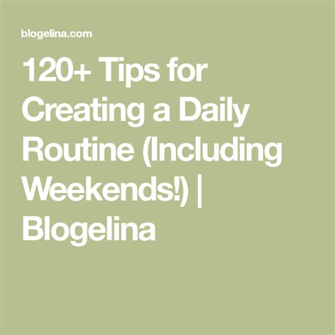 tips  creating  daily routine including weekends
