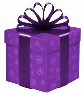 Purple Gift Box with Snowflakes PNG Clipart - Best WEB Clipart