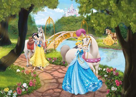 stickers muraux chambre ado poster mural princesses disney en ballade panoramique