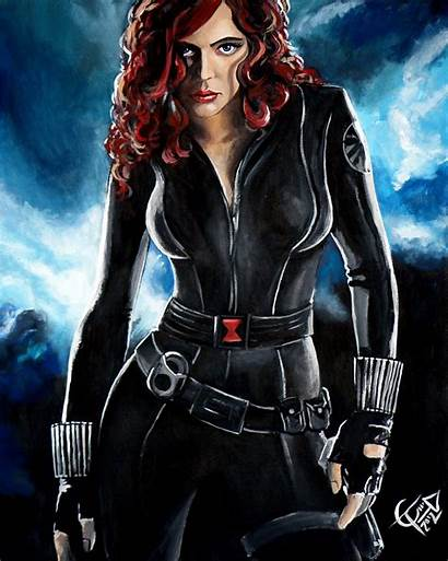 Widow Scarlett Johansson Poster Painting Carlton Tom