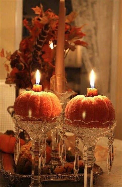 elegant pumpkin candles pictures   images