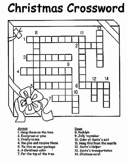 Coloring Crossword Christmas Pages Printable Puzzle Crayola