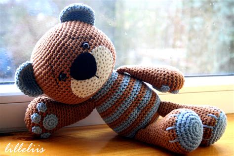crochet teddy lilleliis blogspot com heegeldatud kaisukaru pojale crochet teddy bear for my son