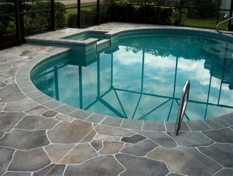 resurface pool deck with tile flagstone pool deck coatings can look real flagstone