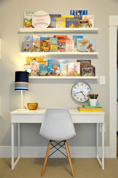 kids desk for two kid room book ledges ikea besta burs desk and white