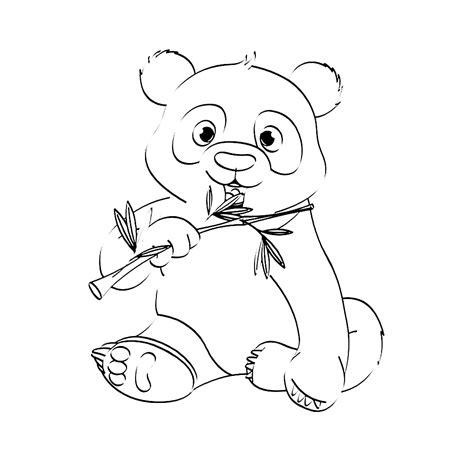 Dierenmasker Kleurplaat Panda leuk voor pandabeer 0004