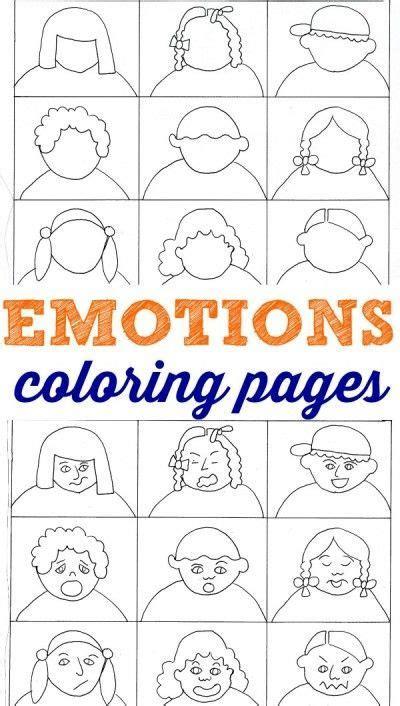 emotions coloring pages  kids  feelings feelings activities emotions feelings