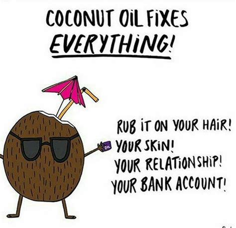 cuisine humour food humor 40 coconut fixes everything rub it on
