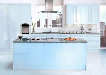 color azul  celeste en la cocina decoracion de