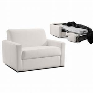 Fauteuil convertible 1 place cuir dream par verysofa promo for Canapé lit une place