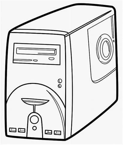 Cpu Clipart Computer Parts Drawing Basic Unit