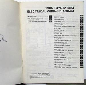 1985 Toyota Mr2 Service Shop Repair Manual Electrical