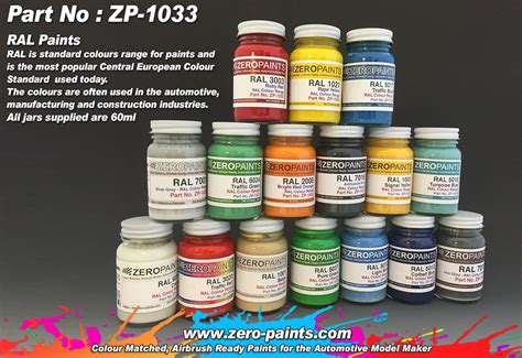 ral paints european standard colour range ml zp