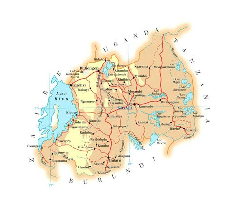 maps  rwanda map library maps   world