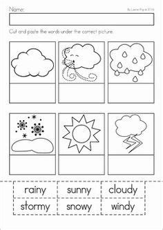 weather unit for preschool and kindergarten a page from the unit label the weather cut and