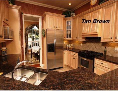 tan brown countertops  light cabinets tan kitchen