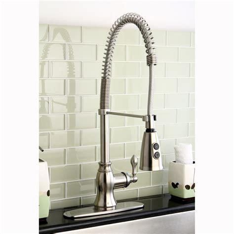 spiral kitchen faucet modern satin nickel spiral pull