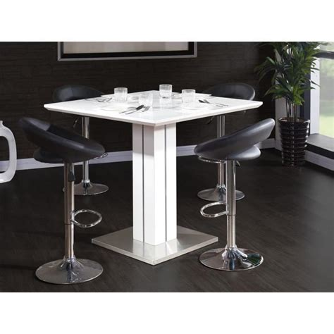table haute blanc laque table de bar blanc laque 28 images table de bar joyce blanc laqu 233 et verre avec repose