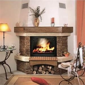 Cheminée En Brique : chemin e d 39 angle marina cheminee ~ Farleysfitness.com Idées de Décoration