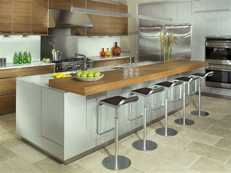 fabriquer une table haute de cuisine inspirations 5 cuisines avec table intégrée joli place